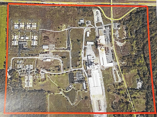 The proposed area for the Harrison Township CRA that includes Royal Canin and Cargill.