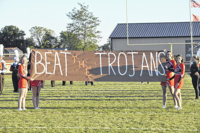 National Trail takes the field before its game against Arcanum on Friday, Sept. 18. Arcanum won 42-25.