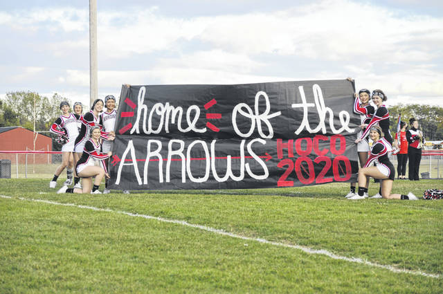 The Preble Shawnee Arrows take the field before their game against Dixie on Friday, Sept. 25. Shawnee won 42-14.