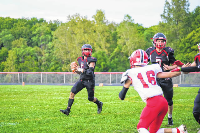 Preble Shawnee defeated Madison 19-12 on Friday, Aug. 28. Senior QB Travis Howard (5) threw for three touchdowns.