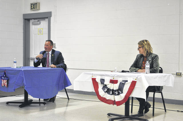 Republican Rodney Creech and Democrat Amy Cox participated in a town hall for Ohio House District 43 on Thursday, Oct. 15.