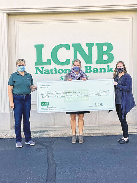 LCNB presents a check to the Preble County Imagination Library