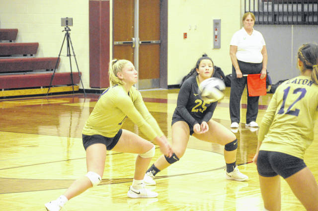 Eaton competes against Chaminade Julienne in their OHSAA Sectional/District Tournament game on Tuesday, Oct. 27. Eaton fell in four sets.