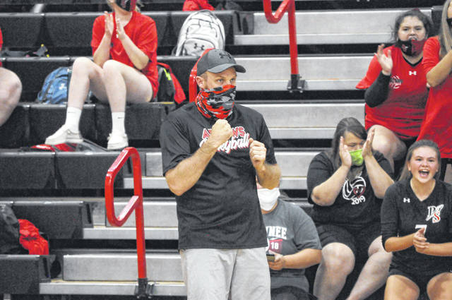 Preble Shawnee coach Josh Evans led the Arrows to an SWBL Buckeye Division title in his first season.