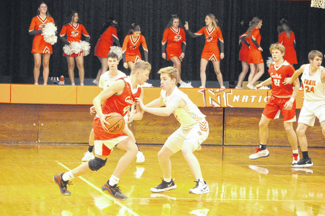 After a long delay to begin the season, National Trail picked up a 58-48 win over Carlisle in the Blazers' home opener on Saturday, Dec. 12.