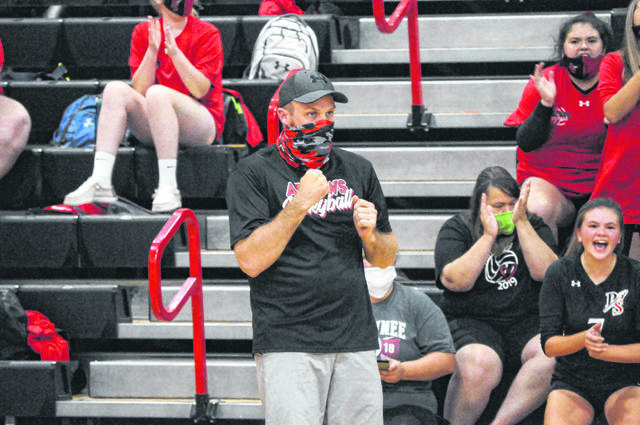 Preble Shawnee volleyball coach Josh Evans was named the SWBL Buckeye Division Volleyball Coach of the Year.