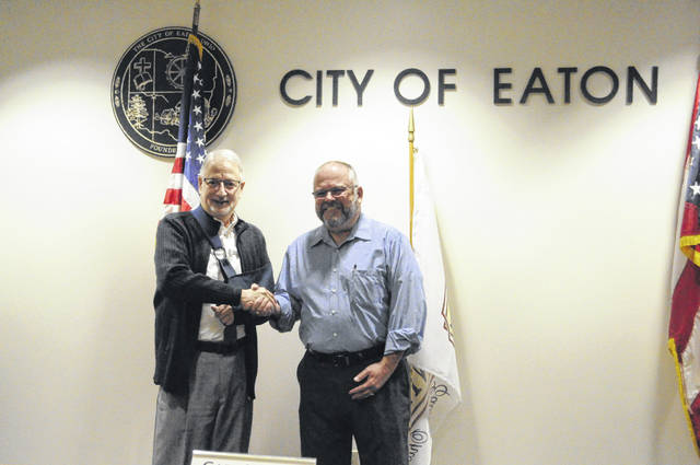 Vice Mayor Dave Kirsch (left) and Mayor Joe Renner (right) were appointed during the City of Eaton's organizational meeting on Monday, Dec. 7.
