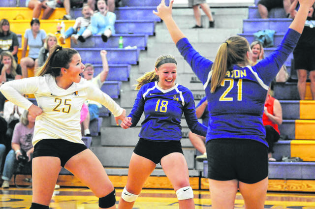 Olivia Baumann (18) was named the SWBL Southwestern Division Volleyball Player of the Year.