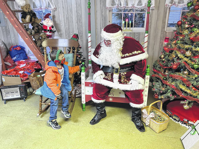 Children were able to meet with Santa during West Alexandria's Christmas in the Village.