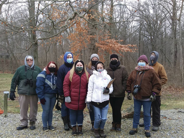 Students from Twin Valley South High School counted birds at Fort St Clair State Park and the Preble County Historical Society on Tuesday.
