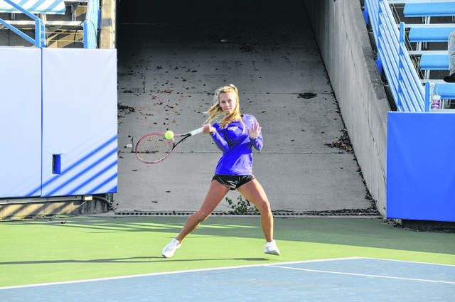 Eaton's Macy Hitchcock was named First-Team All-SWBL in tennis before winning the OHSAA Division II State Singles Tournament.