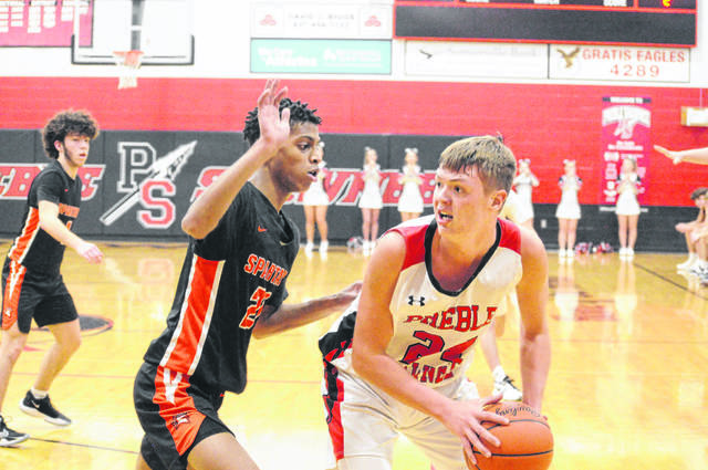 Preble Shawnee freshman Mason Shrout was named SWBL Buckeye Division Player of the Year. He averaged 22.7 points, seven rebounds and 4.1 assists per game.