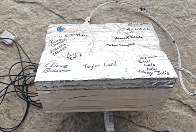 The NASA ARMAS payload that is believed to have fallen north of Lewisburg.