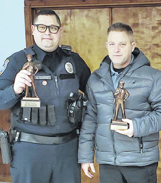 Anthony Schmidt (left) and Pete Wray were recently named EPD Officers of the Year.