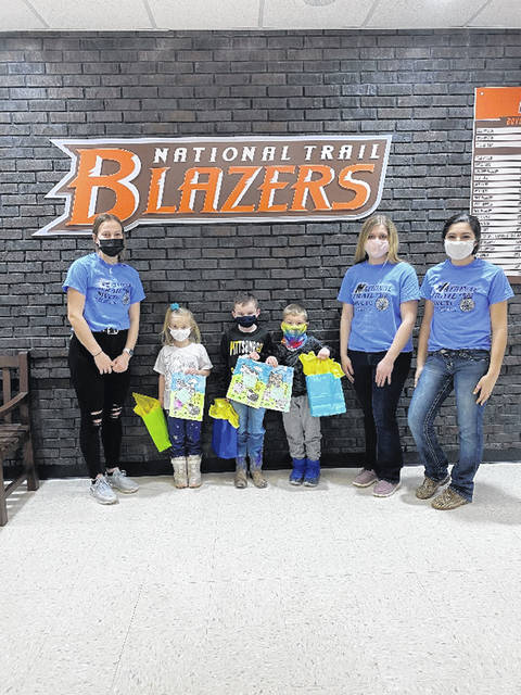 National Trail's elementary school competed in a coloring contest for FFA Week. Left to right: Skyler Ward, Laila Robey, Dane Rodefer, Hunter Winkelbach, Brianne Kosier, Hannah Lee.