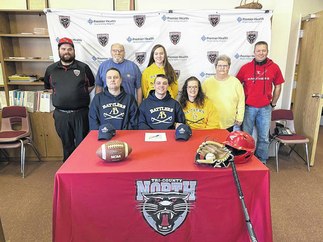 Cooper Cole, a standout two-sport athlete at Tri-County North, will be continuing his academic and athletic careers at Alderson Broaddus University. Cole signed to play both baseball and football at the NCAA Division II school located in Philippi, West Virginia, last month