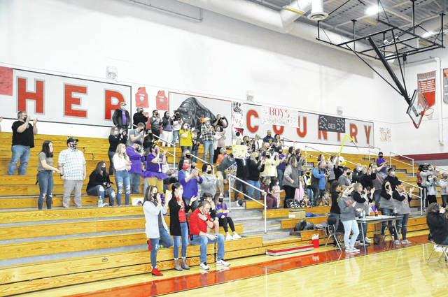 Crowds from each school came out to support their teams.