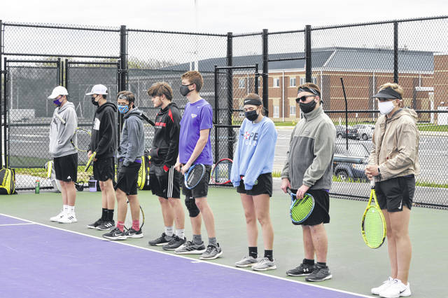 Eaton's tennis team fell to Bellbrook 5-0 on Thursday, April 15.