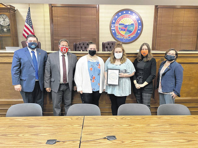 """In conjunction with the YWCA Dayton's Preble County office, Preble County Commissioners proclaimed the month of April """"Sexual Assault Awareness Month"""" during their meeting on Monday, April 12."""