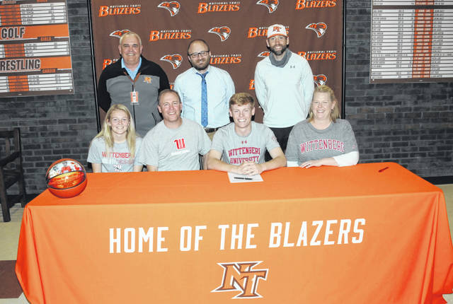 Cameron Harrison, Preble County's all-time leading scorer in boys basketball, has signed to continue his academic and athletic careers at Division III Wittenberg University.