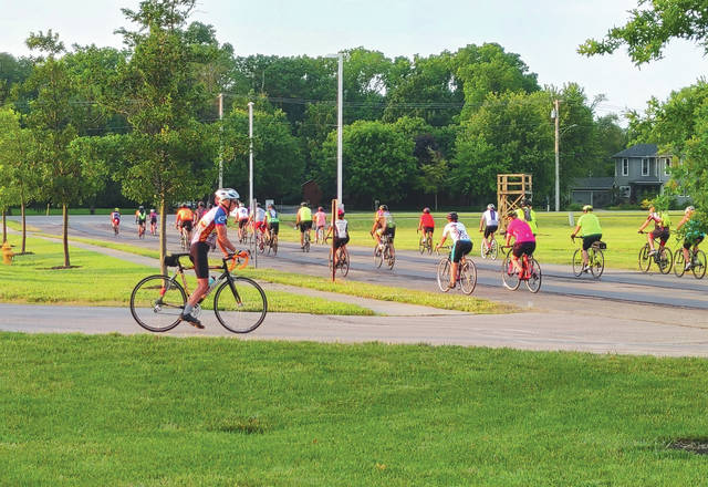 Over 80 bicyclists took part in a scenic tour of Preble County's historic covered bridges on Saturday, June 26.