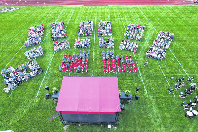 Twin Valley South celebrated the Class of 2021 in a ceremony on the school's football field on Thursday, May 27.