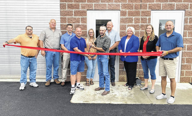 West Alexandria officials recognized the village's new wastewater treatment plant opening on Saturday, July 17, with a celebratory ribbon cutting with the support of the Preble County Chamber of Commerce. Those in attendance were welcomed to a tour of the new facility which will allow for future growth in the community, according to Mayor Jeff Hickey.