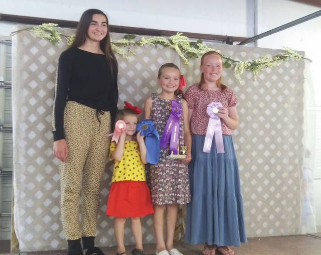 Junior Fair 2021 clothing exhibitors during this year's Style Review show at the Preble County Fairgrounds on Saturday, Aug. 7.