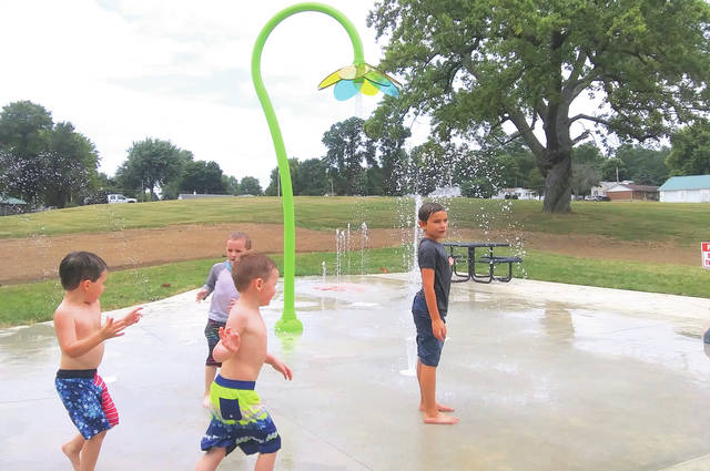 Mayor Kathy Smallwood and other state and local elected officials were present as the Village of New Paris formally unveiled its new splash pad on Friday, Aug. 13.