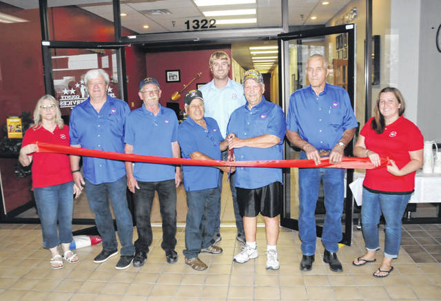 State and local officials and military veterans from across Preble County turned out to help celebrate the official grand opening of the new Preble County Veterans Services Office with a ribbon cutting with the support of the Preble County Chamber of Commerce on Tuesday, Aug. 17.