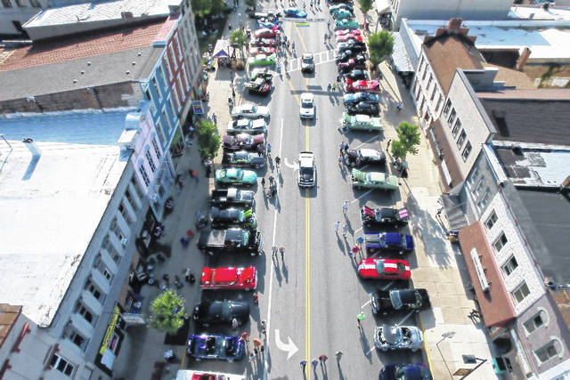 Over 200 vehicles lined downtown Eaton on Saturday, Aug. 28 for the 23rd Annual Old-Fashioned Downtown Saturday Night Car Show.