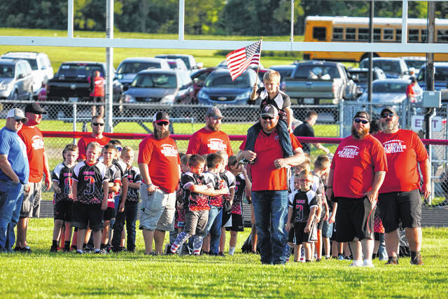 Preble Shawnee held Future Arrows Night before Friday night's game against Twin Valley South.