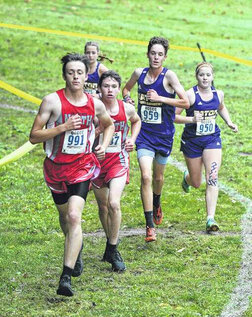 County cross country team competed in the annual county meet on Tuesday, Sept. 21. Eaton's boys and girls came away as county champions.