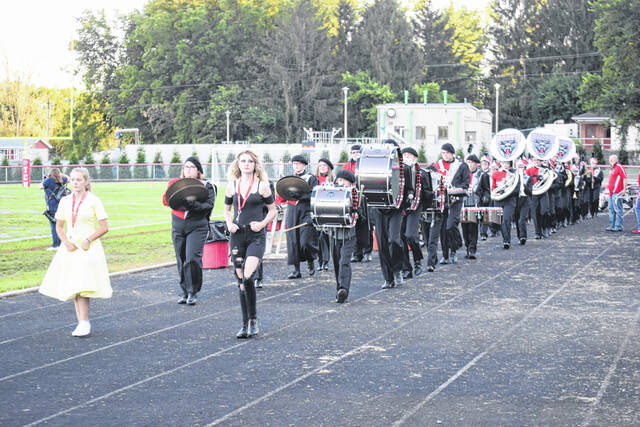 Tri-County North's band performs before the game against Preble Shawnee on Friday, Oct. 1. The Arrows won 42-22.