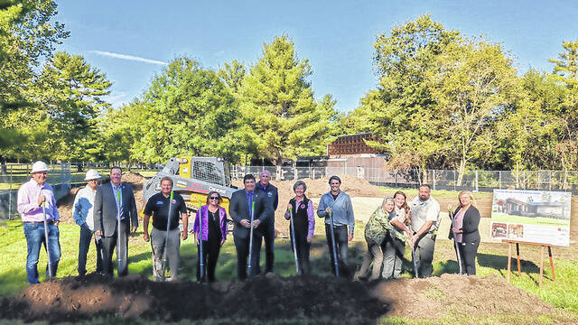 Groudn was broke for a new state-of-the-art nature center at Hueston Woods State Park on Friday, Oct. 1.
