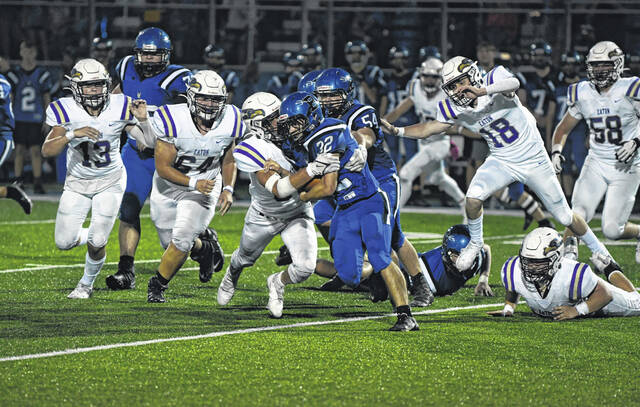 Eaton's defense limited Brookville to 181 total yards and just 89 on the ground in a 29-7 win on Friday, Oct. 1. Eaton improved to 7-0 with the win.