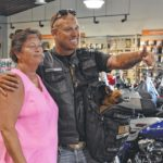 Biker rides for wounded warriors