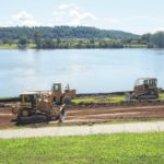 Workers break ground on waterfront project