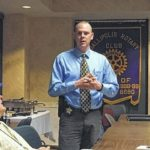 Sheriff Champlin speaks at Rotary