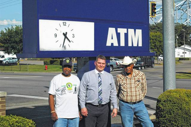 "U.S. Bank made a donation to the Gallia County Emancipation Celebration Committee. Branch Manager Jason Booher said: ""It is important to US Bank to support multicultural and diverse ethnic backgrounds."" He is seen here with President Andy Gilmore (left) and Vice President Glenn Miller of the Emancipation Celebration Committee."