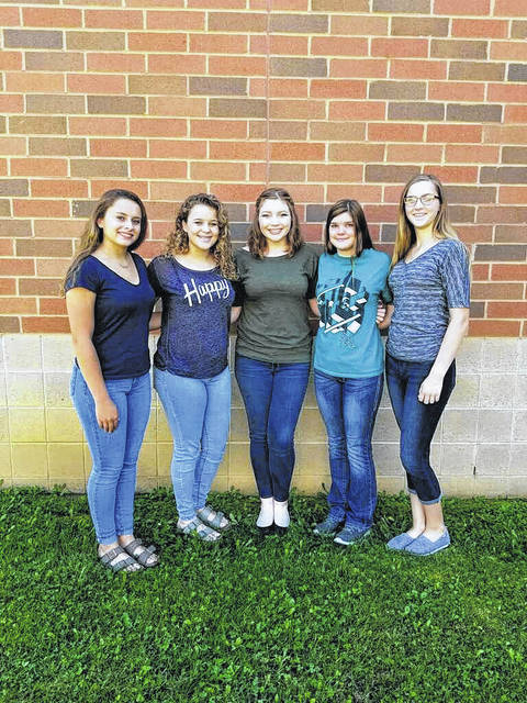 Homecoming Queen candidates from left: Jenna Burke, Isabella Mershon, Maddi Young, Rayanna Adkins and Kaylee Carter.