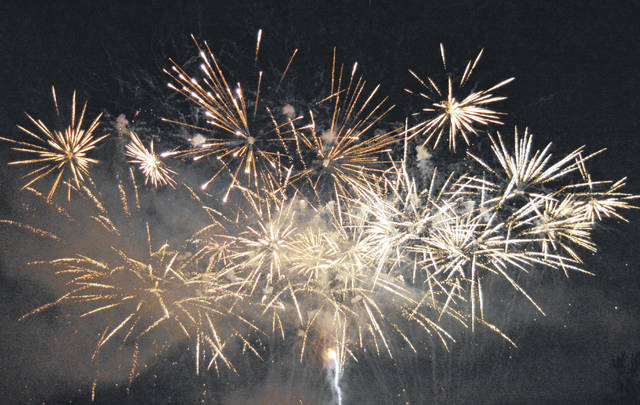 Here, the Rockets over Rio finale fireworks echo and flash for their 11th year. The annual event in Rio Grande peaked a halfway point for a busy weekend for the village during the Bob Evans Farm Festival, the Foxtrot 5k and more.