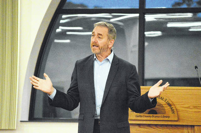 Ohio Auditor Dave Yost serves as a keynote speaker at the Gallia GOP Rally Tuesday evening.