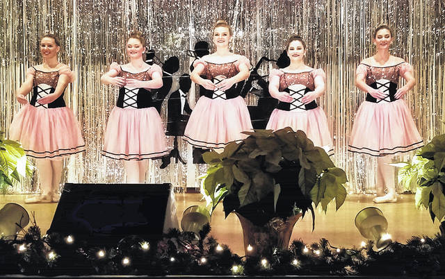"Gallia-Meigs Performing Arts Senior Pointe class, performing ""Dance of the Sugar-Plum Fairy."""