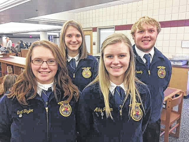 Pictured from left are Lexi Taylor, Hailey Deem, Abby Jordan, and Jonas McCreedy.