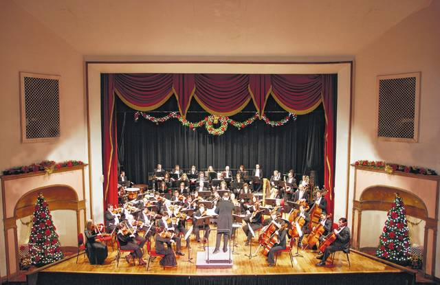 The Ohio Valley Symphony, pictured, will be hosting its yearly Christmas Show Saturday evening at the Ariel-Ann Carson Dater Performing Arts Centre in downtown Gallipolis. A pre-performance conversation with Ohio University's Associate Professor of Instrumental Conducting Steven Huang is at 6:45 p.m. before the symphony takes the stage at 7:30 p.m.
