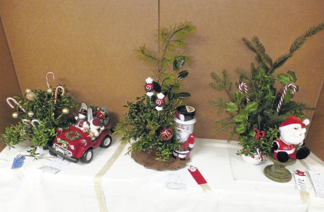 Holiday floral arrangements were on display during the 2016 Christmas Flower Show hosted by the Meigs County Garden Clubs.