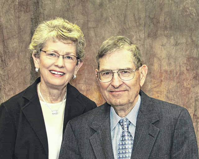 Lester and Molly (Vanco) Plymale will celebrate their 60th wedding anniversary on November 27. They were married by Rev. Clyde Webster at Fairfield Methodist Church. They are the parents of Carol (Douglas) Sexton, Beavercreek, and Andy (Anna) Plymale, Richland, Washington. They are members of Faith Baptist Church and have lived in Gallipolis their entire lives. Lester retired from Ohio Valley Electric Corp. and Molly retired as the Gallia County Recorder. Their family and friends wish to congratulate them on 60 years together.