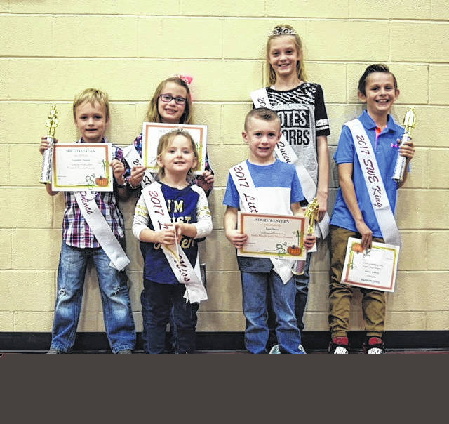 Pictured front row, from left, Brooklyn Gibson and Levi Stout; back row, front left, Jonathan Saxton, Ella Elliott, Harley hale, Braxton Crews.