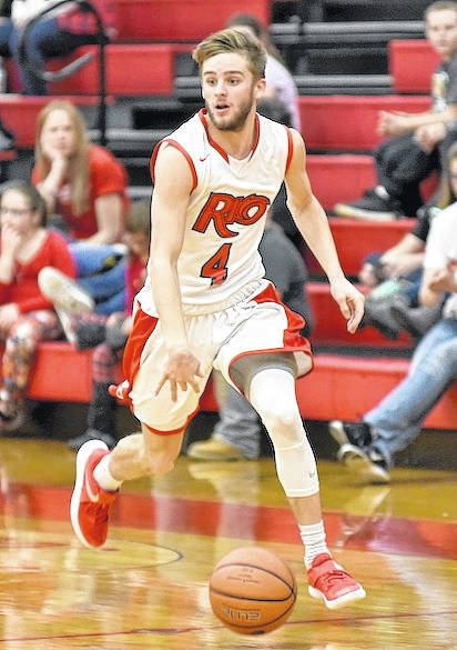 Rio Grande's Jaxon Burgess nailed a three-pointer with 11.8 seconds remaining to lift the RedStorm past Truett McConnell, 81-78, in non-conference men's basketball action at the Newt Oliver Arena.